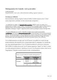 Vejledning i misbrugsanalyser for Cannabis - Sygehus Vendsyssel