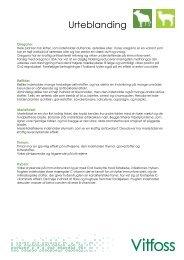 Oversigt over urter der indgår i urteblandingen - Vitfoss