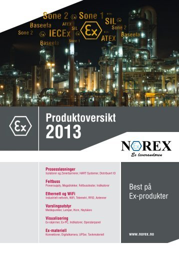 Norex produktkatalog 2013