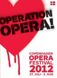 27. juli - 3. august Serenade- service - Copenhagen Opera Festival