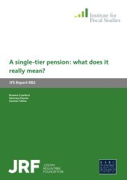 A single-tier pension: what does it really mean? - The Institute For ...