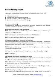 Etiske retningslinjer - SE Foreningen Danmark