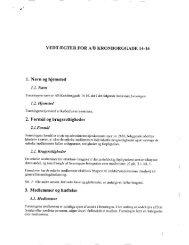 4 VEDTÆGTER FOR Ali KRONBORGGADE 14-16 1 ... - Lokalbolig