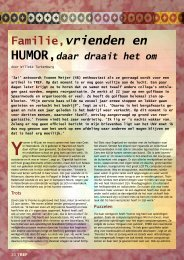 Familie, vrienden en humor Meer dan 22 jaar ... - TREF Magazine