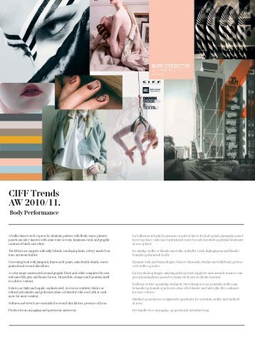 CIFF Trends AW 2010/11. Body Performance - Fashion