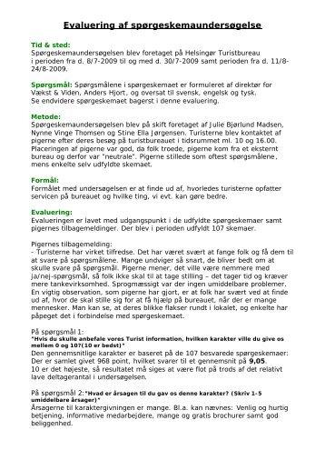 Bilag 7.5.1 NPS-måling Turistbureauet - Vækst & Viden