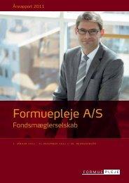 Årsrapport 2011 - Formuepleje