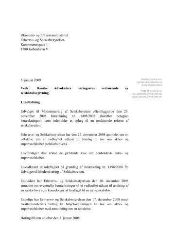 Økonomi- og Erhvervsministeriet Erhvervs- og Selskabsstyrelsen ...