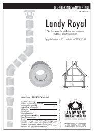 monteringsanvisning för landy royal - Nordfire