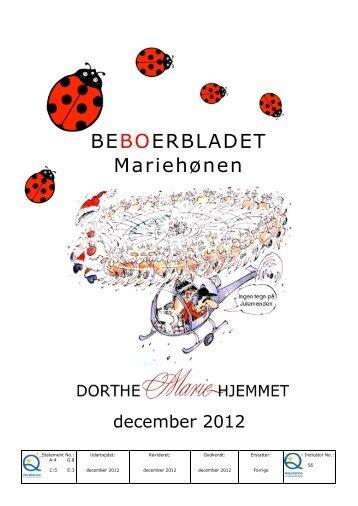 December 2012 - Mariehjemmene
