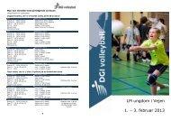 LM ungdom i Vejen 1. – 3. februar 2013 - DGI