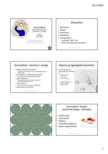 Svimmelhed - Klinisk Differentiering og håndtering - Temadag ...