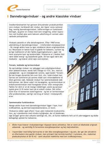 Dannebrogsvinduer og andre klassiske vinduer - Energitjenesten
