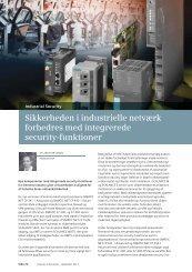 Sikkerheden i industrielle netværk forbedres med ... - Siemens