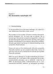 Kapitel 1 - Det økonomiske samarbejde i EU