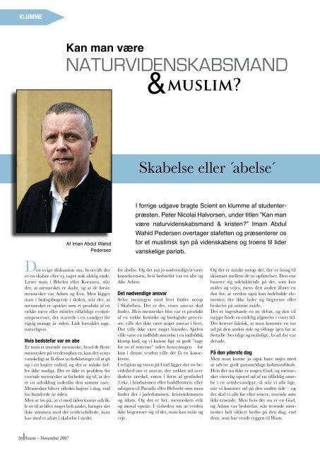 INTERVIEW med Lone Frank - SCIENCE - Københavns Universitet
