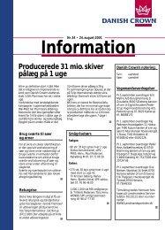 Information - Slagtere