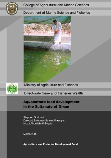 Aquaculture feed development in the Sultanate of Oman