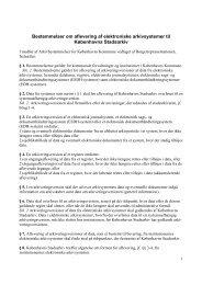 Bestemmelser om aflevering af elektroniske arkivsystemer