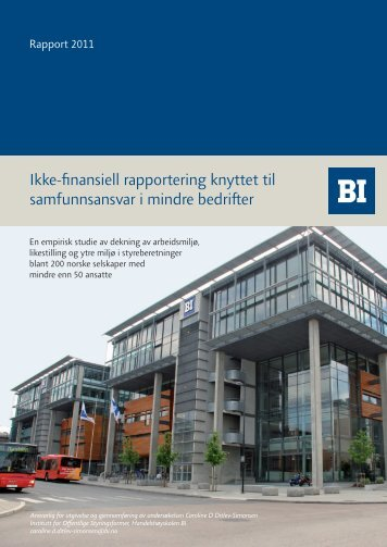 Ikke-finansiell rapportering knyttet til samfunnsansvar i mindre bedrifter
