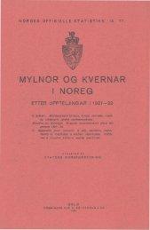 Mylnor og kvernar i Noreg etter uppteljingar i 1927-29. 2. bolken