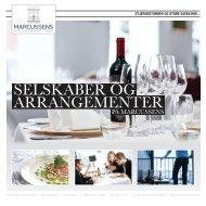 Selskaber og arrangementer brochure - Marcussens Hotel