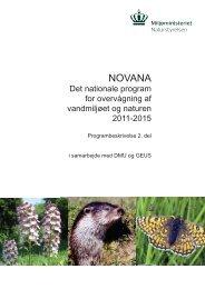 NOVANA Programbeskrivelse del 2 - Naturstyrelsen
