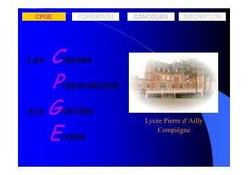 présentation - Mathématiques en MPSI au lycée Pierre d'Ailly