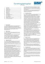 Forretningsbetingelser for MVS® Administration ApS som PDF