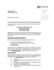 Bestyrelsen for Sjælsø Gruppen A/S indkalder herved til ordinær ...