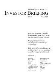 INVESTOR BRIEFING - Dansk Aktie Analyse