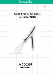 Axor Starck Organic prisliste 2013 - Hansgrohe