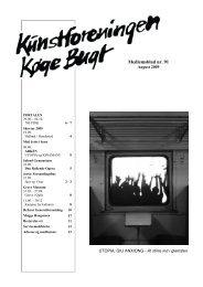 Nr 91 - august 2009 - Kunstforeningen Køge Bugt