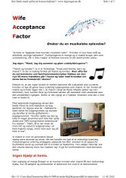 Wife Acceptance Factor - Kaj Reinholdt Mogensen