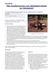 R5499CB The Productivity of Tethered Goats in Tanzania*