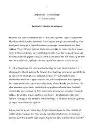 Afghanistan – forelæsninger Af Carsten Jensen Første del ... - Politiken