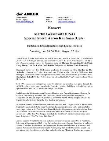 (USA) Special Guest: Aaron Kaufman (USA) - Anker