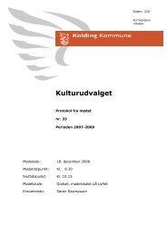 Referat til mødet d. 18-12-2008 kl. 8.… - Kolding Kommune