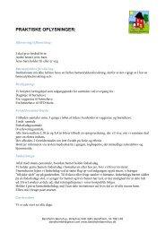 Praktisk info - Bandholm Børnehus