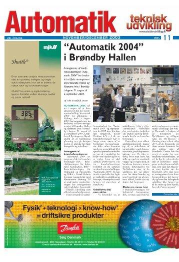 """Automatik 2004"" i Brøndby Hallen - Teknik og Viden"