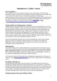 Nyhedsbrev fra bestyrelsen, januar 2013.
