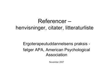 Referencer –