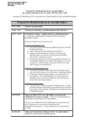 Program for offentlig høring om lov om røgfri miljøer - Den Gule Negl