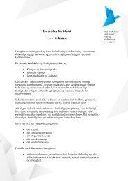 Læseplan for idræt 1. - 6. klasse - Vejle Privatskole