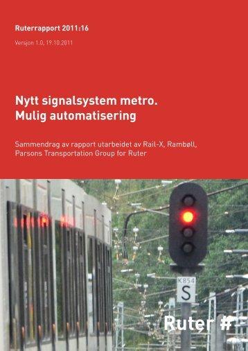 Communication Based Train Control - Ruter
