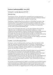 Program Senterpartiet - Norges Bondelag