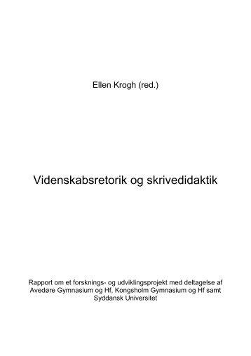 Videnskabsretorik og skrivedidaktik.pdf - tilbage - Emu
