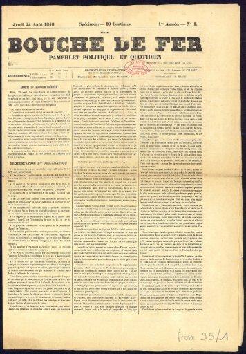 24 août 1848, numéro 1 - Archives municipales de Nantes