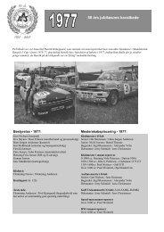 50 års jubilæums kavalkade - Aarhus Automobil Sport