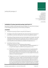 Indkaldelse til ordinær generalforsamling i Jyske Bank A/S [PDF]